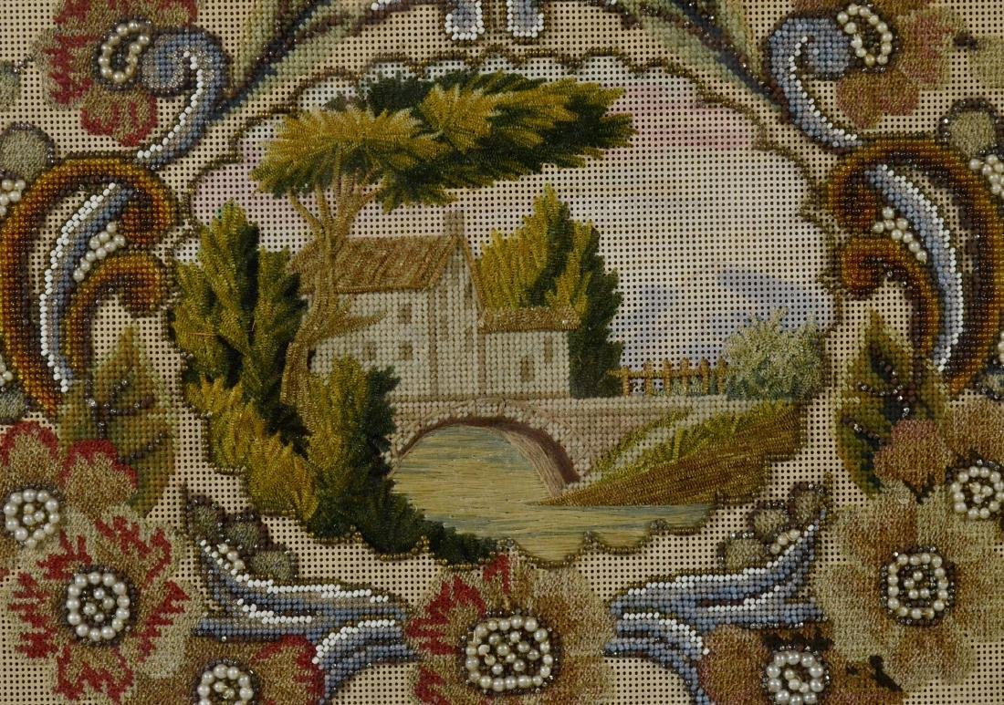19th Century Needlepoint and Beadwork Panel - 3