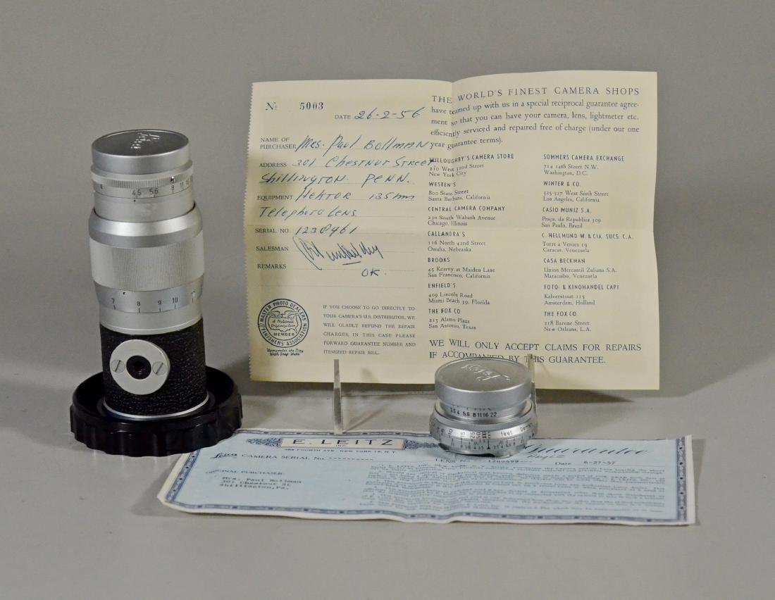 (2) Leica lenses, Ernst  Leitz Wetzler Hektor Summaron