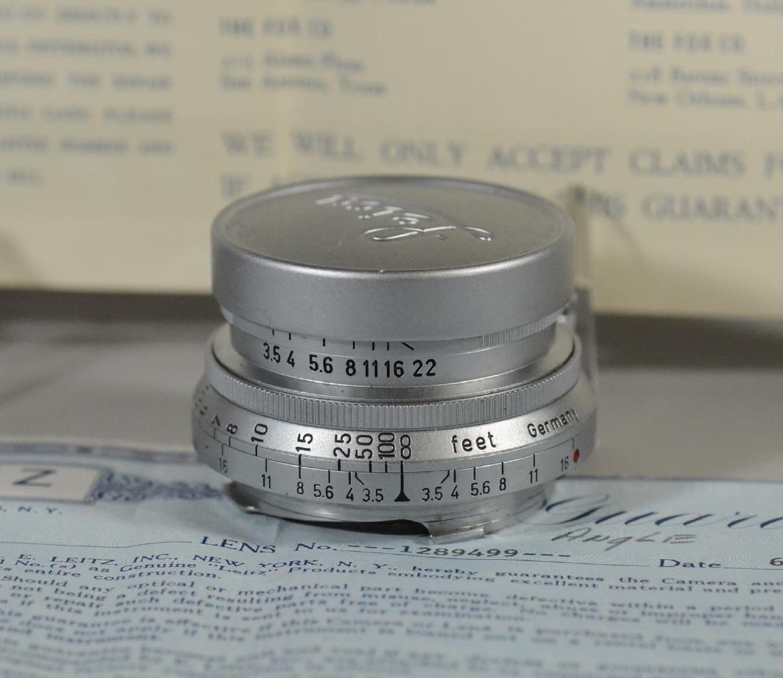 (2) Leica lenses, Ernst  Leitz Wetzler Hektor Summaron - 3