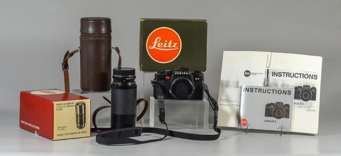 Leica R4 35mm SLR camera & Vario Elmar-R lens