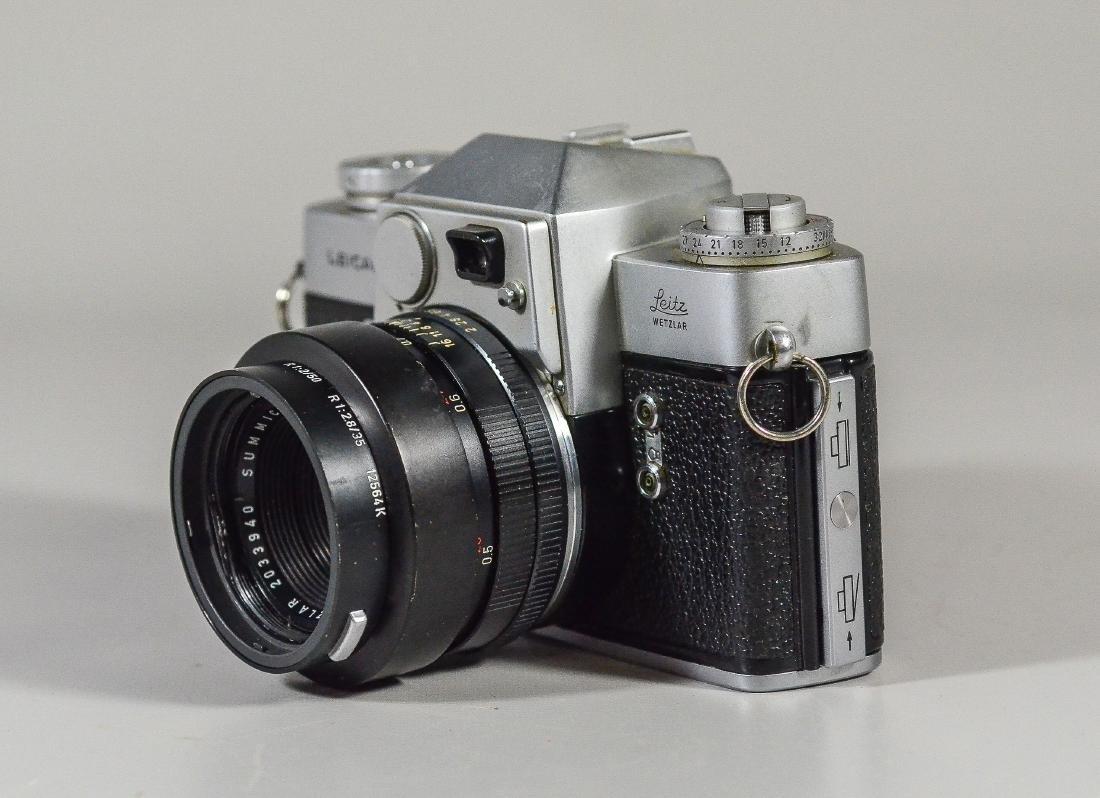 Leicaflex 35mm SLR camera & Leitz Wetzler Summicron len - 3