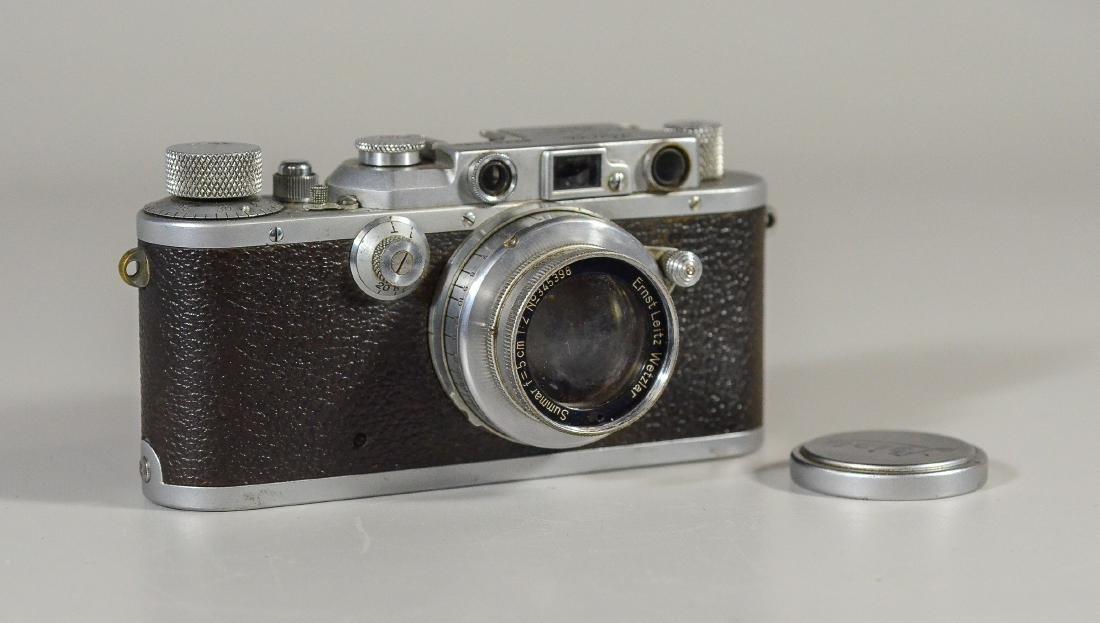 Leica IIIa 35mm rangefinder camera & lens - 4