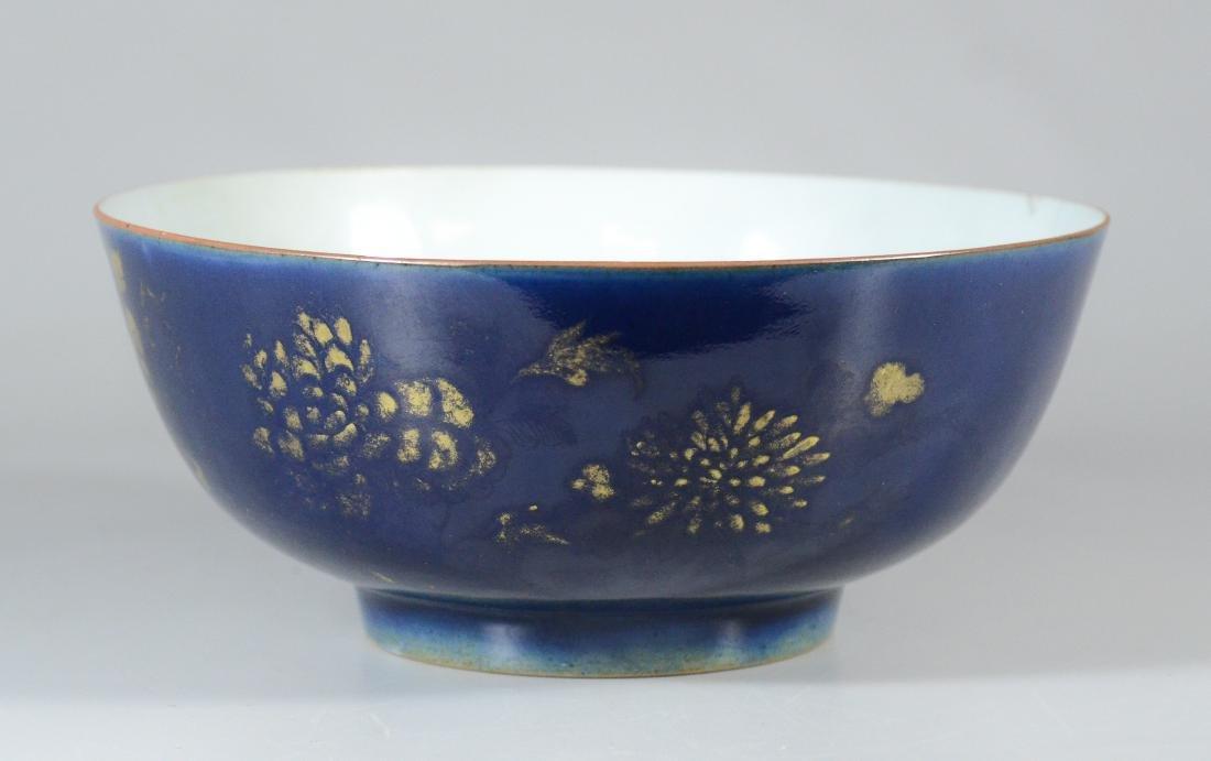 Chinese porcelain bowl, blue exterior