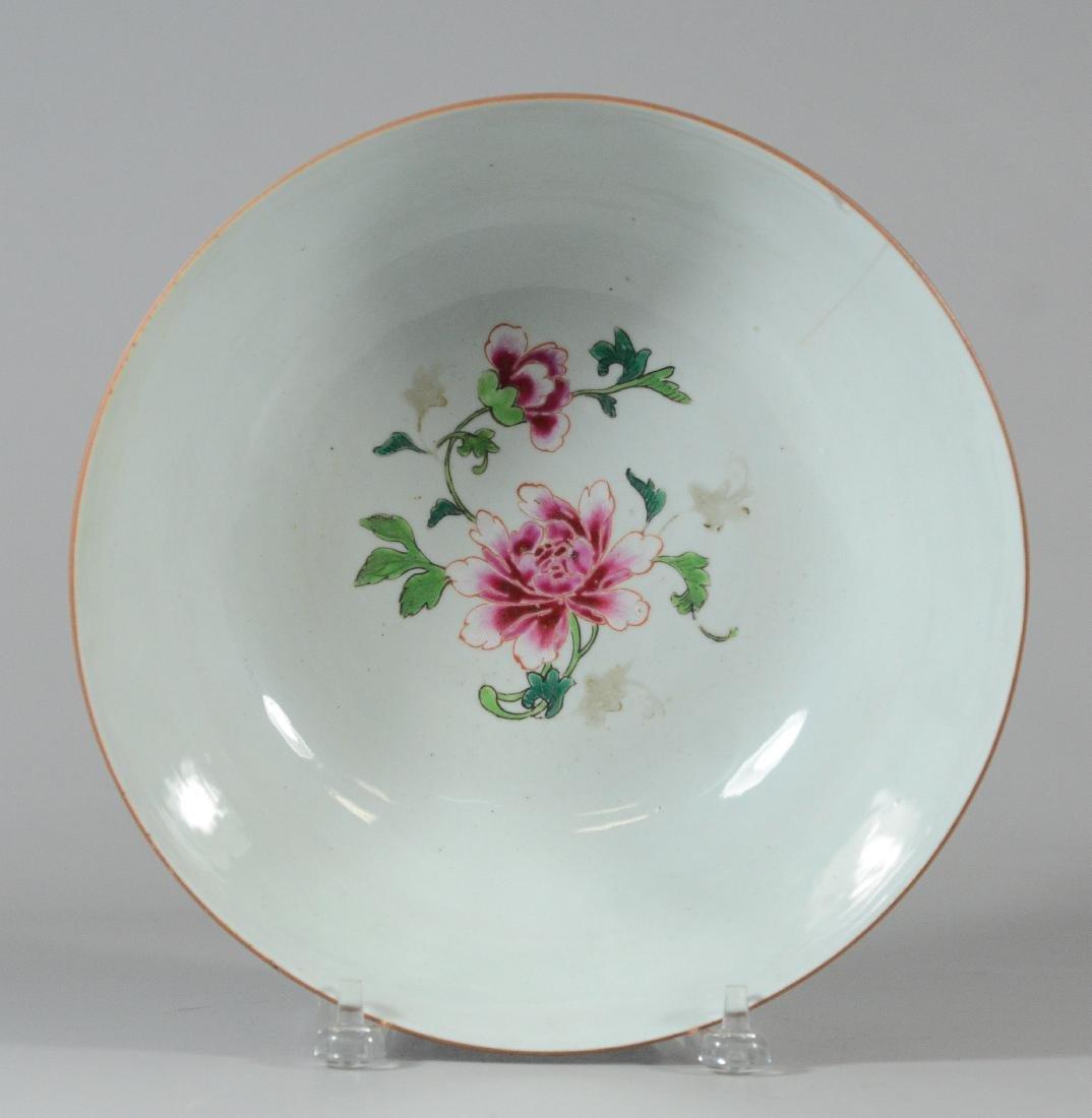 Chinese porcelain bowl, blue exterior - 2