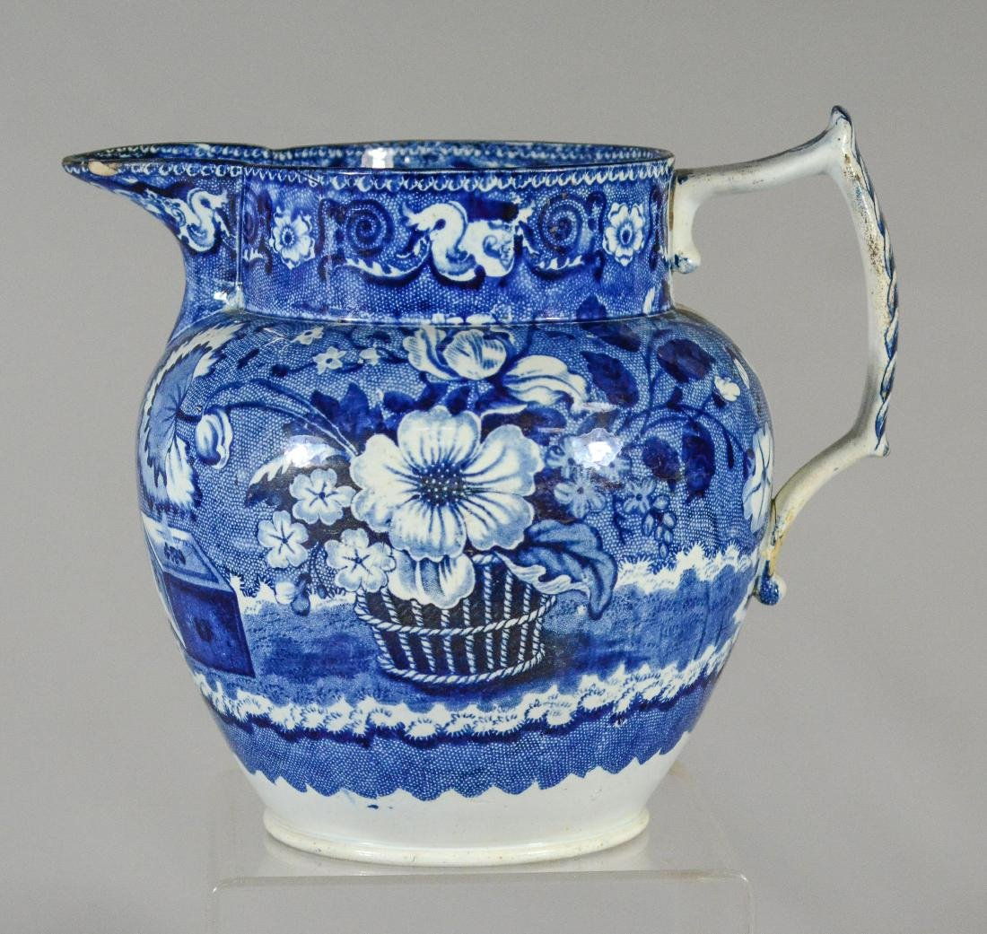 (3) pcs blue transfer Staffordshire - 2