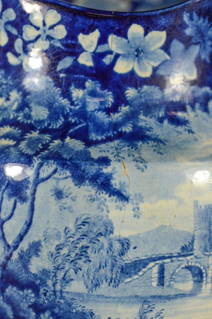 (3) pcs blue transfer Staffordshire - 8