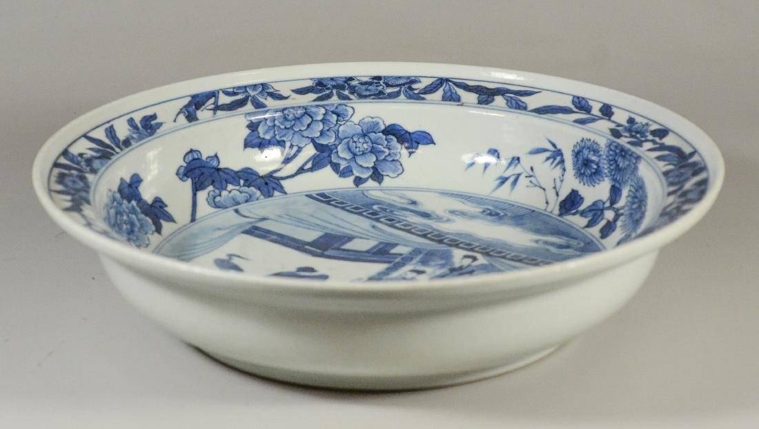 Chinese blue and white porcelain basin - 4