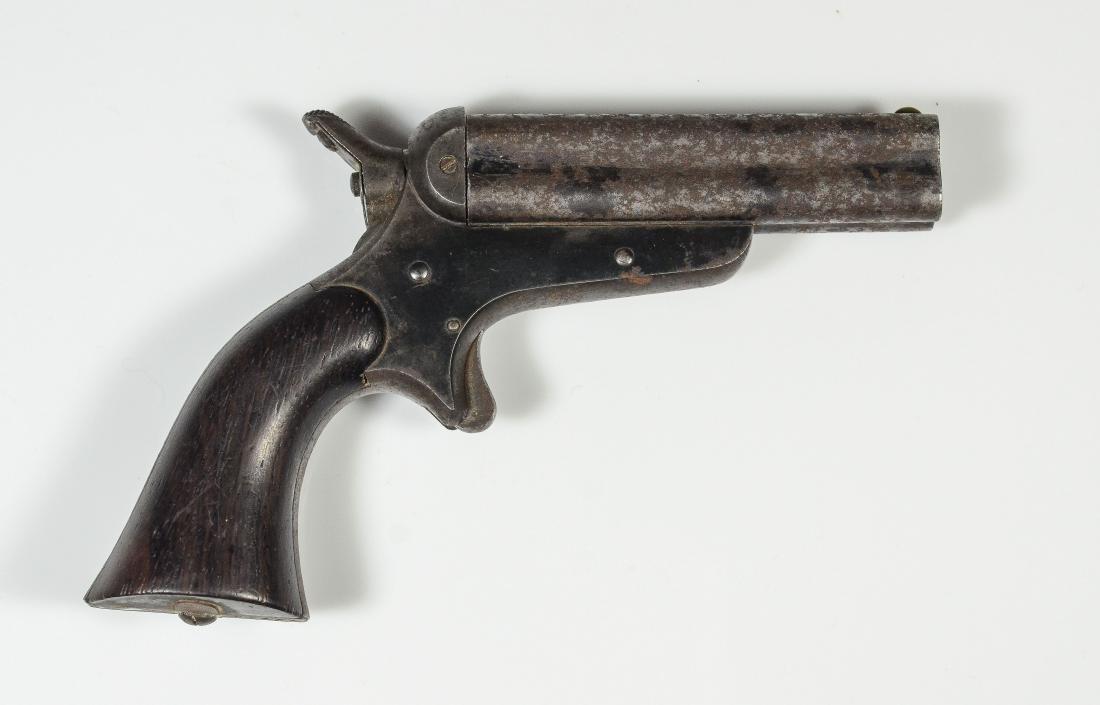 Four-Barrel Sharps and Hankins Pepperbox Pistol - 3