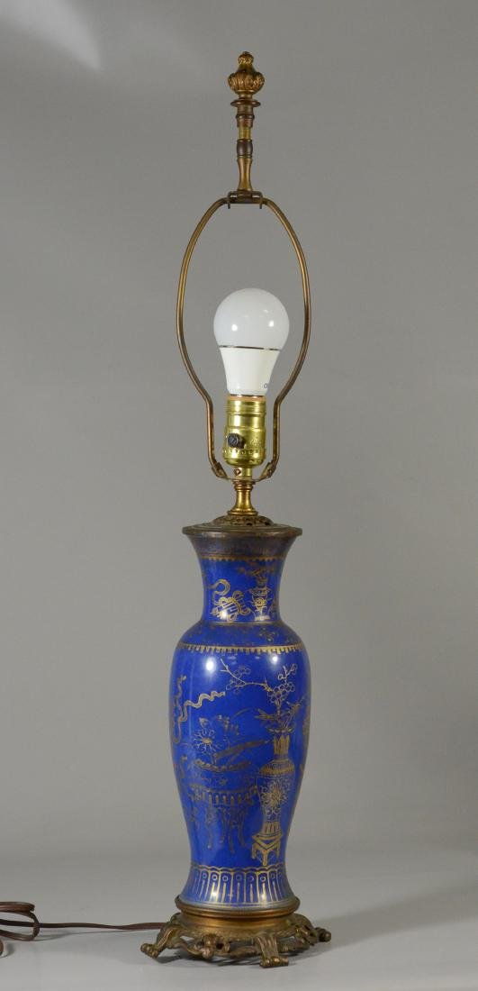 (2) Asian style paint decorated table lamps - 6