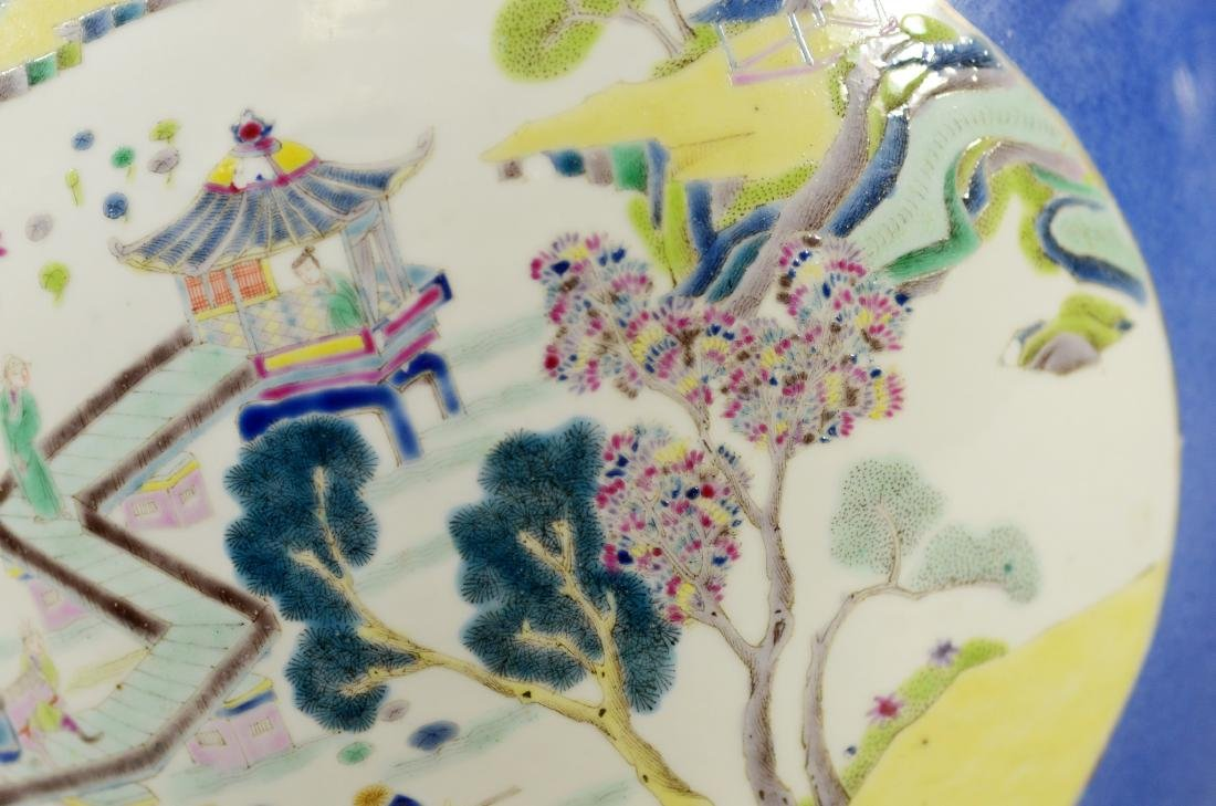 Chinese porcelain jardiniere, cobalt ground - 10