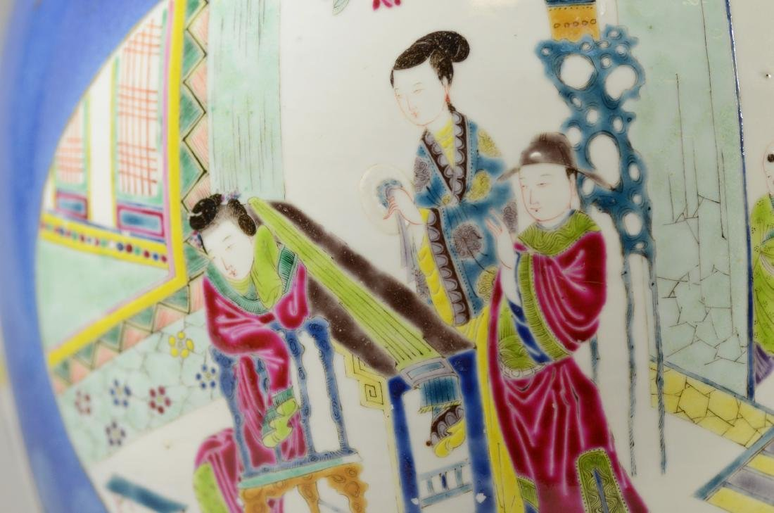 Chinese porcelain jardiniere, cobalt ground - 13