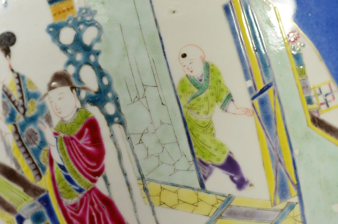 Chinese porcelain jardiniere, cobalt ground - 14
