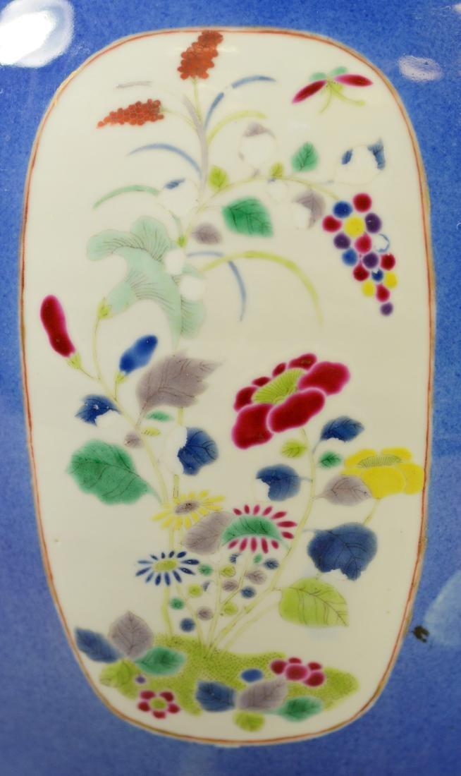 Chinese porcelain jardiniere, cobalt ground - 6