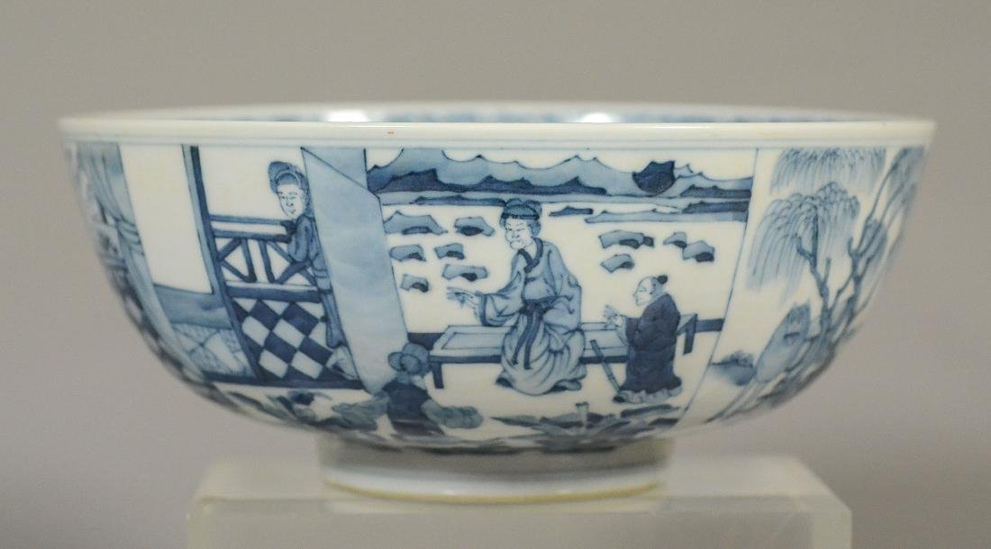 Blue and White Chinese Porcelain Bowl - 3
