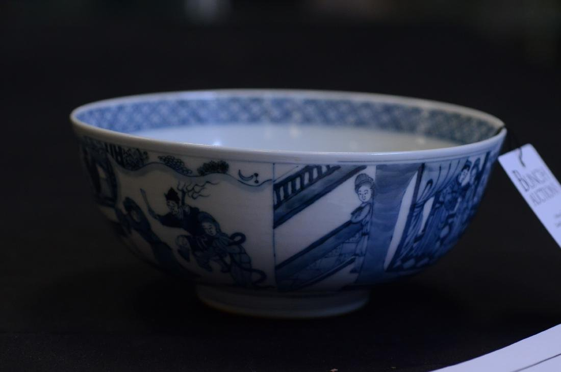 Blue and White Chinese Porcelain Bowl - 5