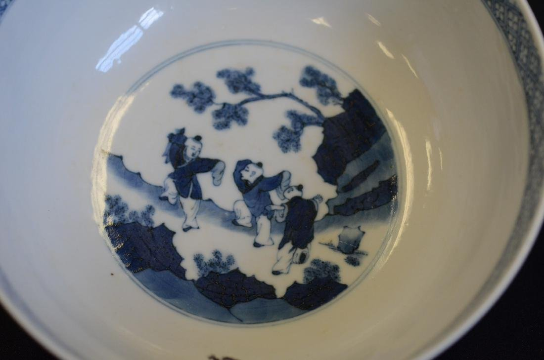 Blue and White Chinese Porcelain Bowl - 6