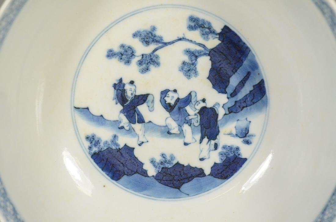 Blue and White Chinese Porcelain Bowl - 8