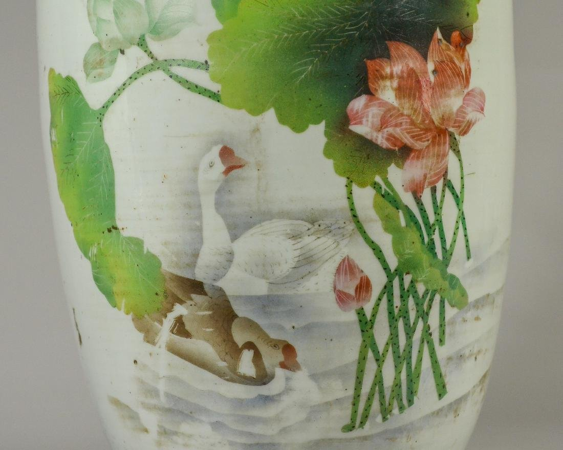 "Chinese Pale Celadon Porcelain Vase, 23"" tall - 3"