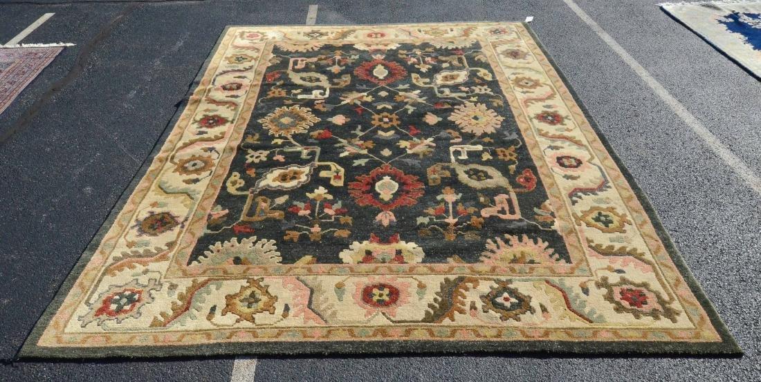 """9'9"""" X 13'8"""" Floral Geometric Afghani Rug"""