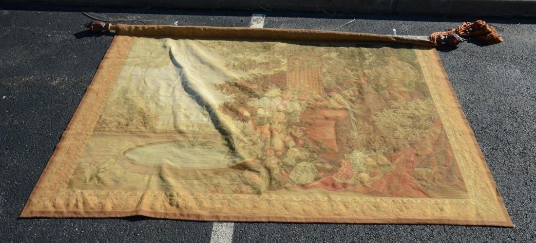 """5'8"""" X 7'9"""" Tapestry depicting a still life of birds"""