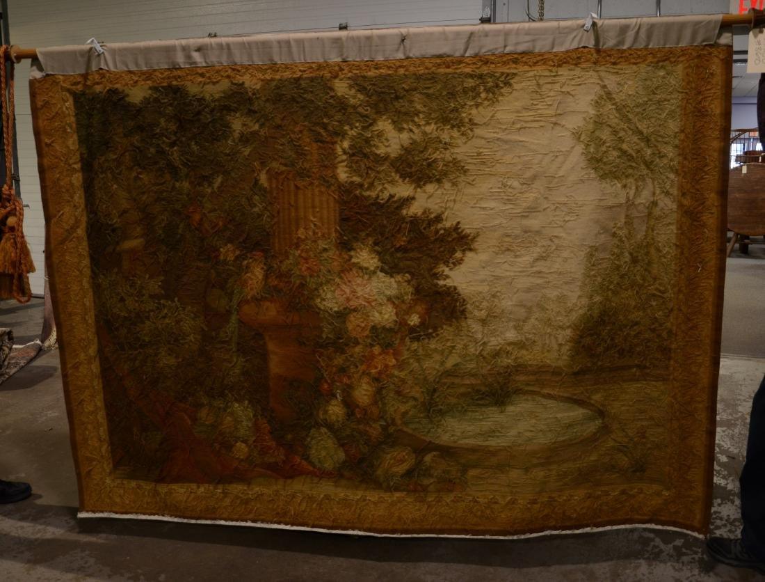 """5'8"""" X 7'9"""" Tapestry depicting a still life of birds - 2"""
