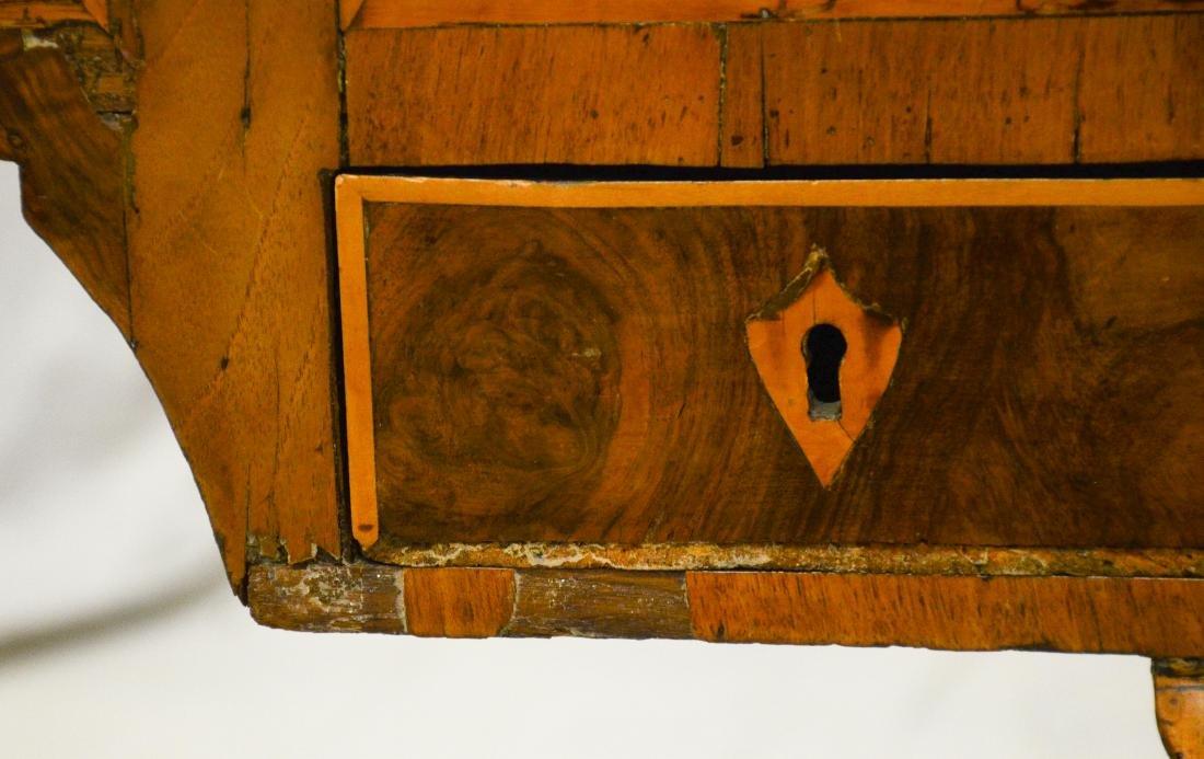 Continental banded & burled walnut writing desk, pro - 6