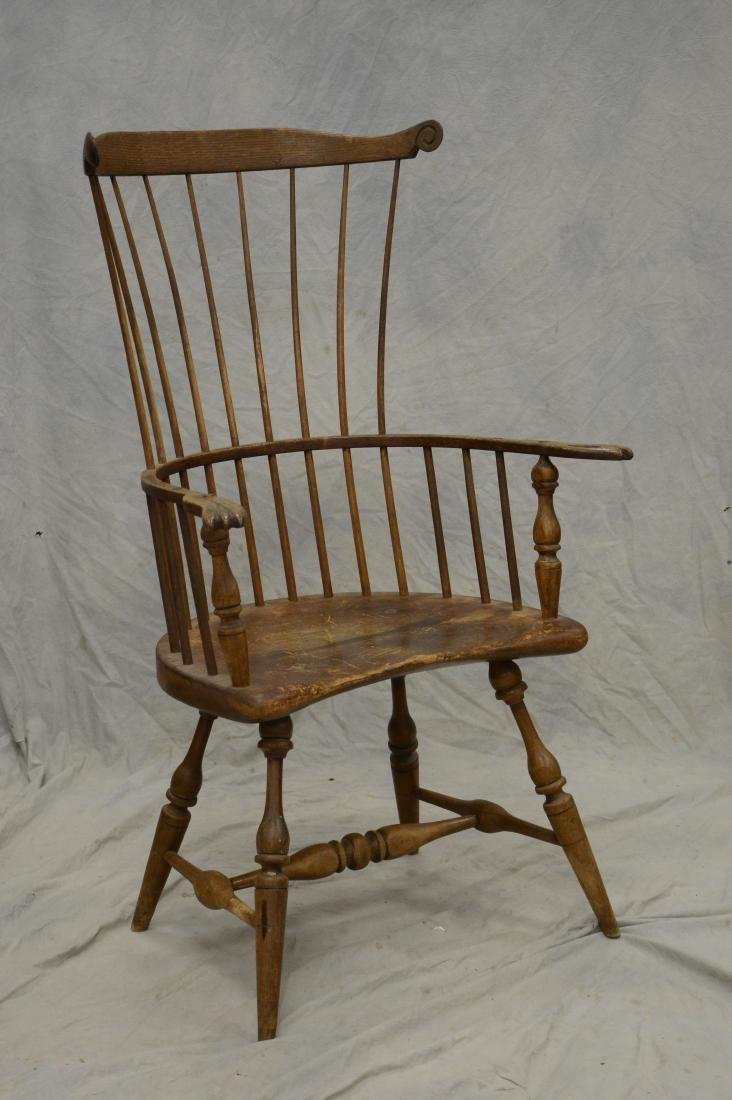Philadelphia comb back windsor chair, 20th c bench m