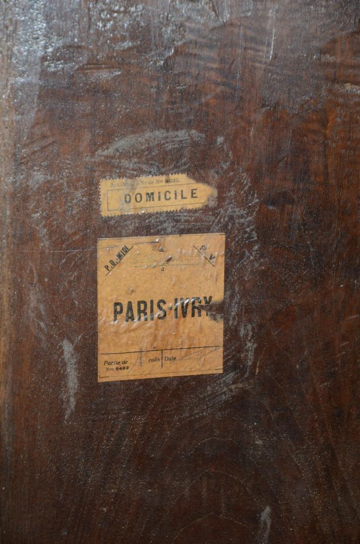 Walnut French Provincial single door side cabinet, 1 - 4