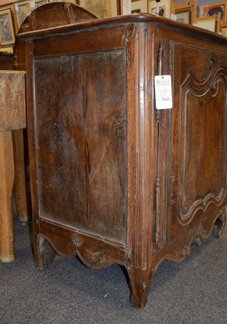 Walnut French Provincial single door side cabinet, 1 - 6