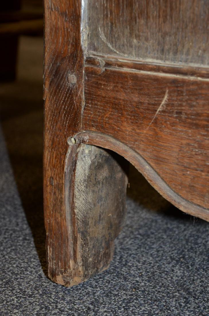 Walnut French Provincial single door side cabinet, 1 - 7