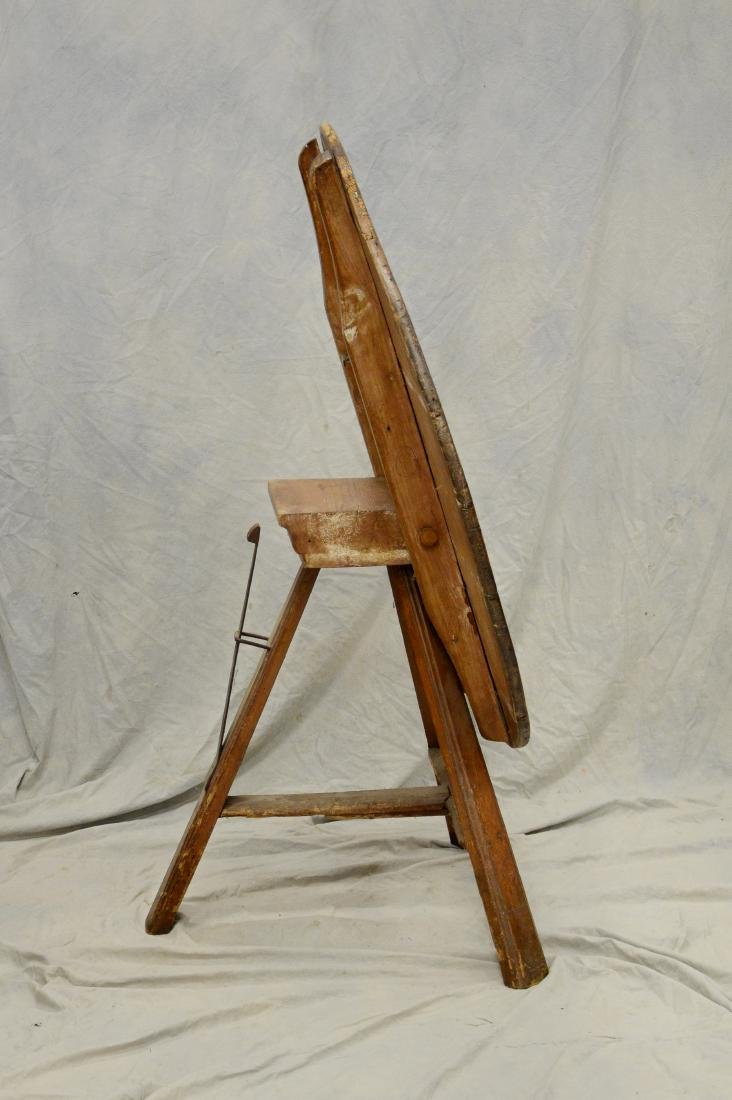 French pine  tilt top wine tasting table, 4 board to - 2