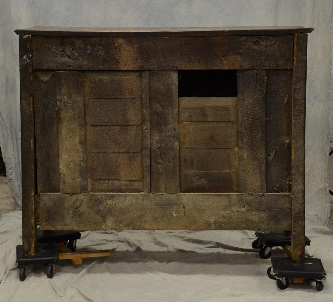 French Provincial carved oak buffet, 18th c, floral - 5