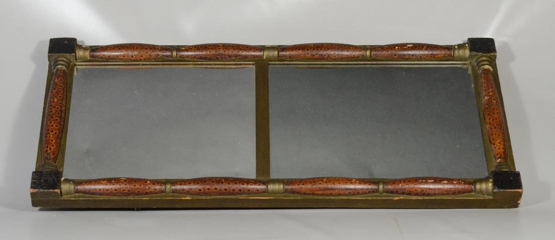 American Federal split spindle wall mirror, original