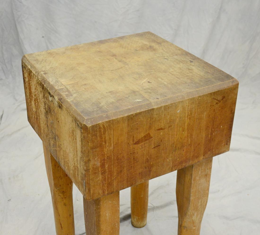"Diminutive butcher's block, minimal wear, 20"" square - 2"