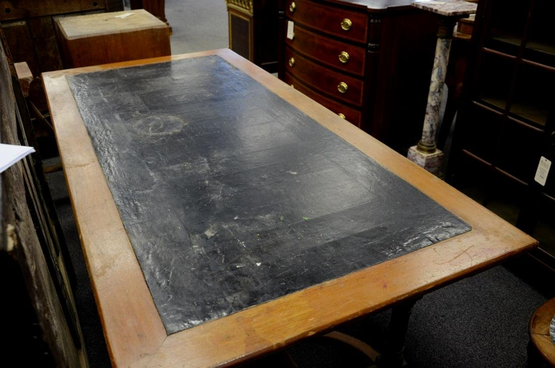 Walnut Victorian Aesthetic leather top writing desk, - 5