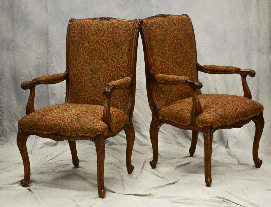 6 EJ Victor Louis XV style dining chairs, walnut frames