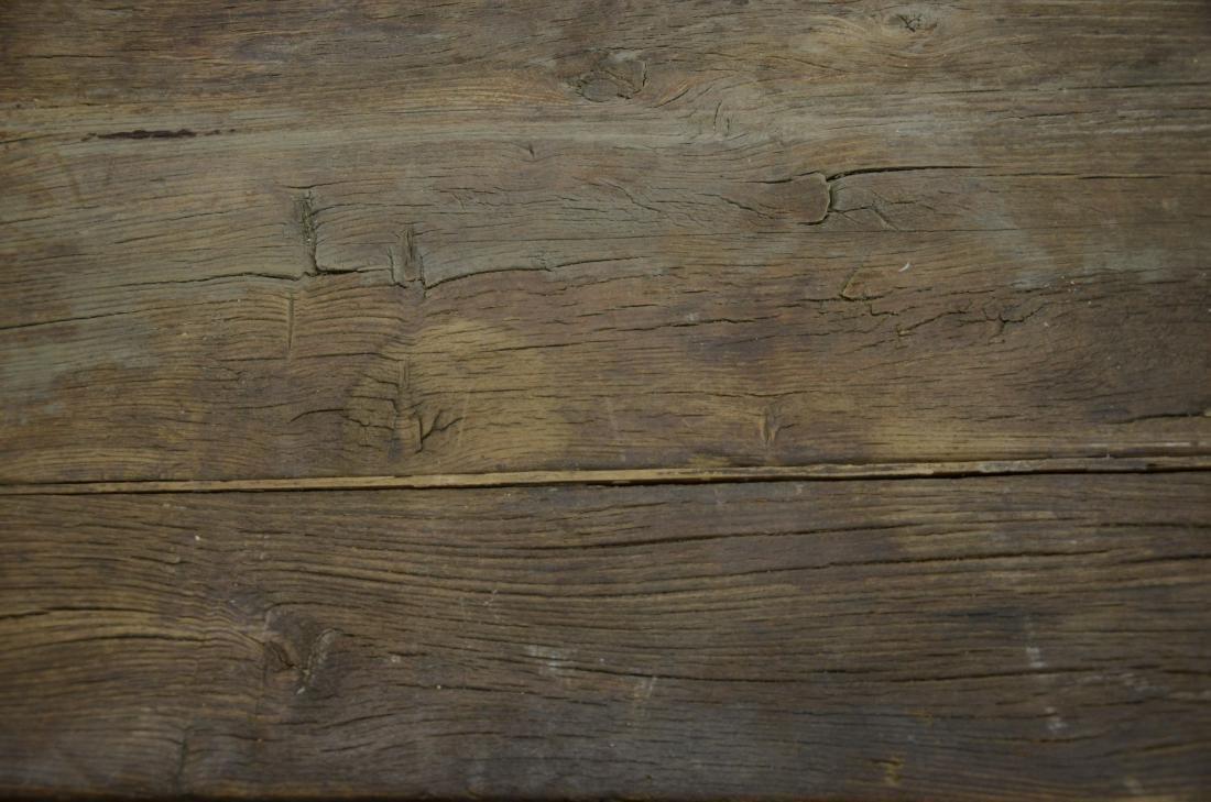 Continental walnut trestle base farm table, 18th c b - 7