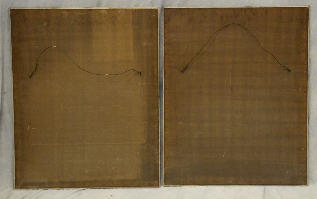 Pair parchment and gilt framed mirrors, 20th c, parc - 2