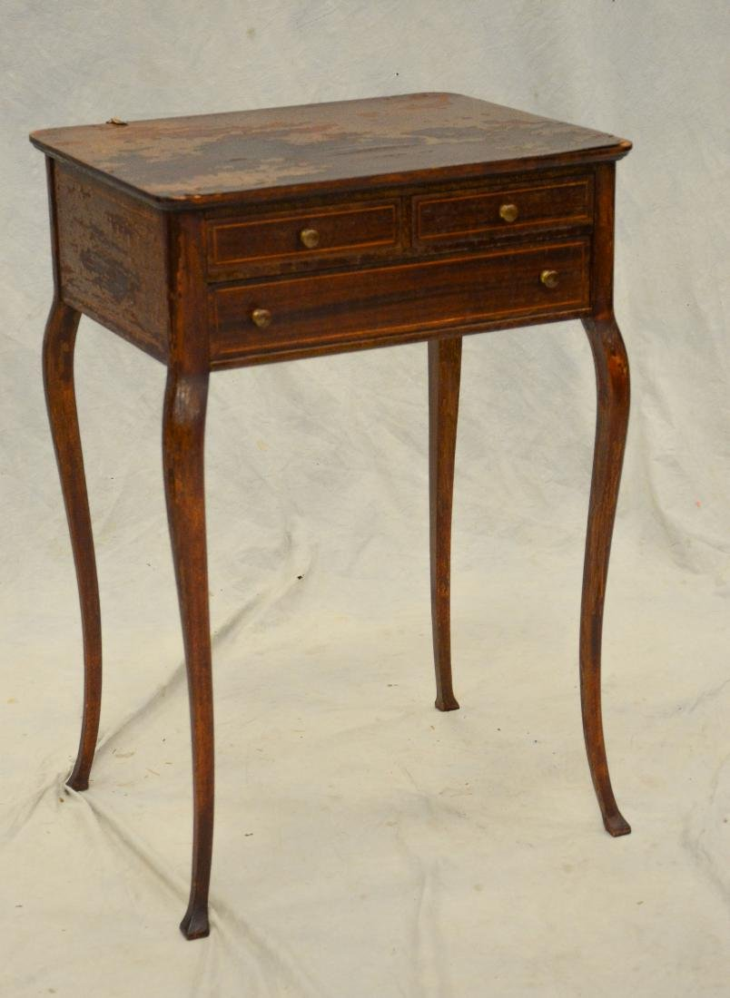 Mahogany Louis XV side table, banded drawers