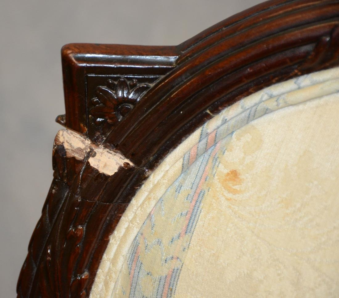 (7) pc Adams style carved mahogany dining room set, - 2
