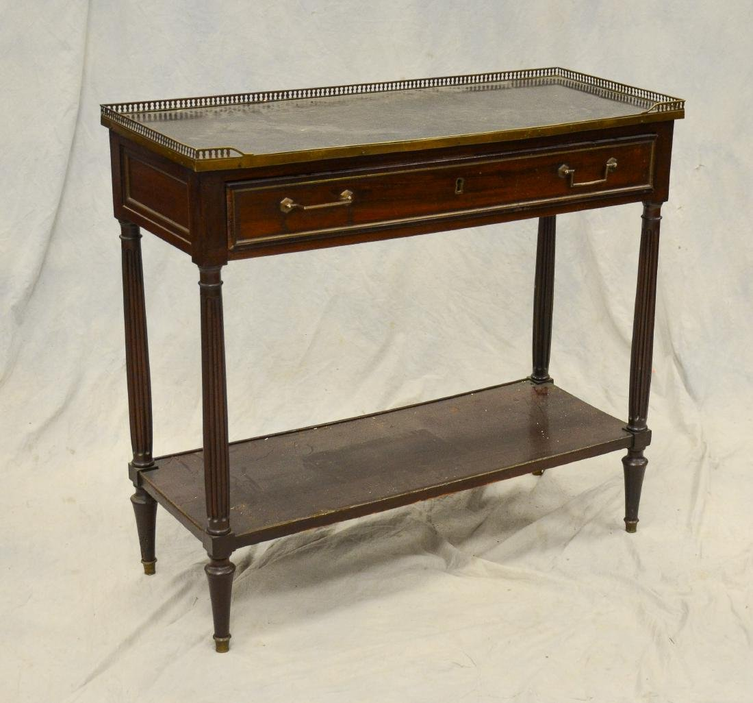 Louis XVI style marbletop 2-tier console