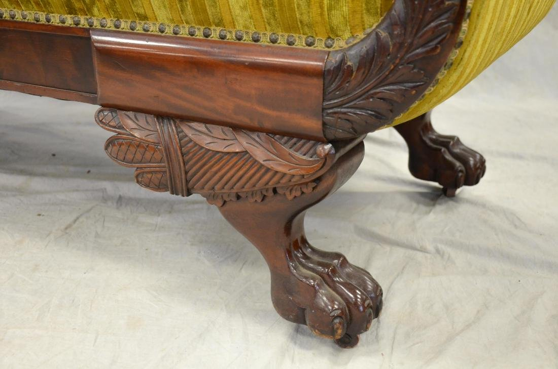Carved mahogany Federal sofa, striped upholstery, 40 - 3