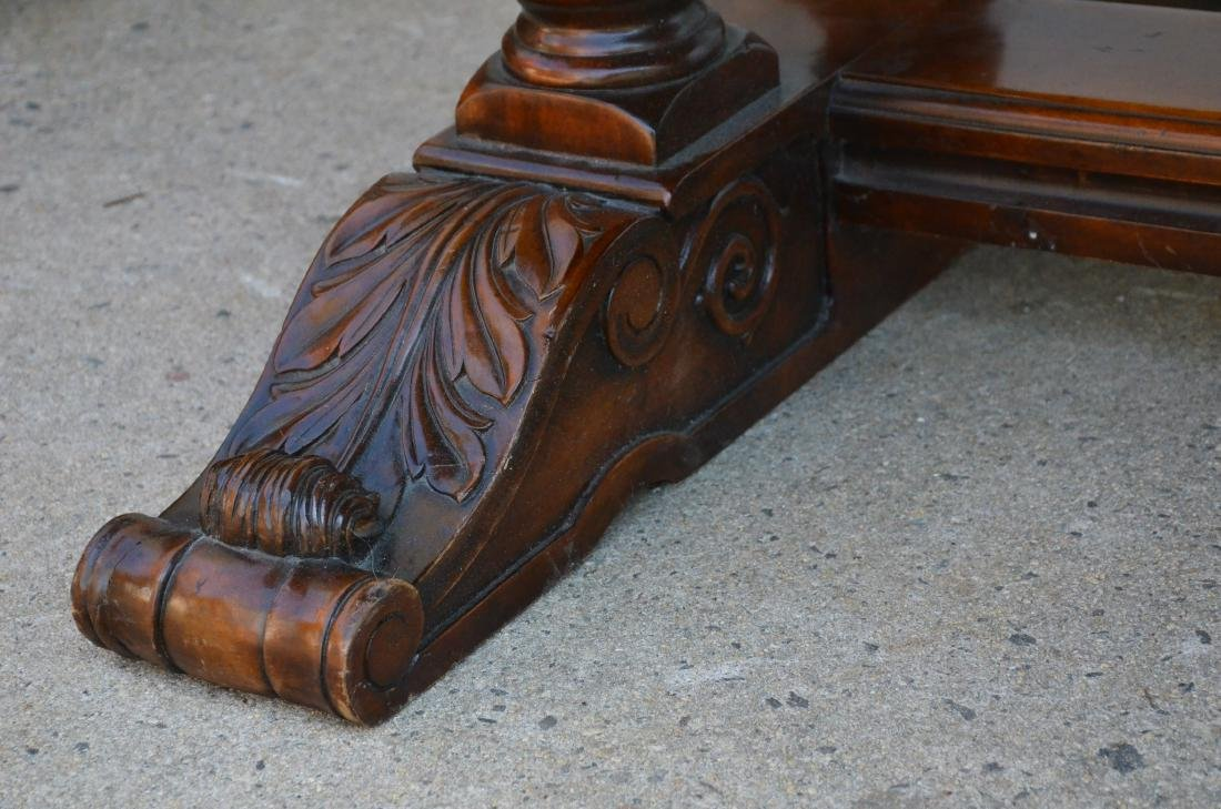 Regency style dining table, plume decoration on feet - 3