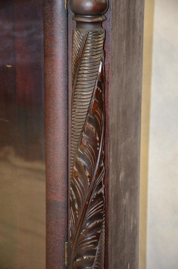 Carved mahogany Federal style 2 door bookcase - 3