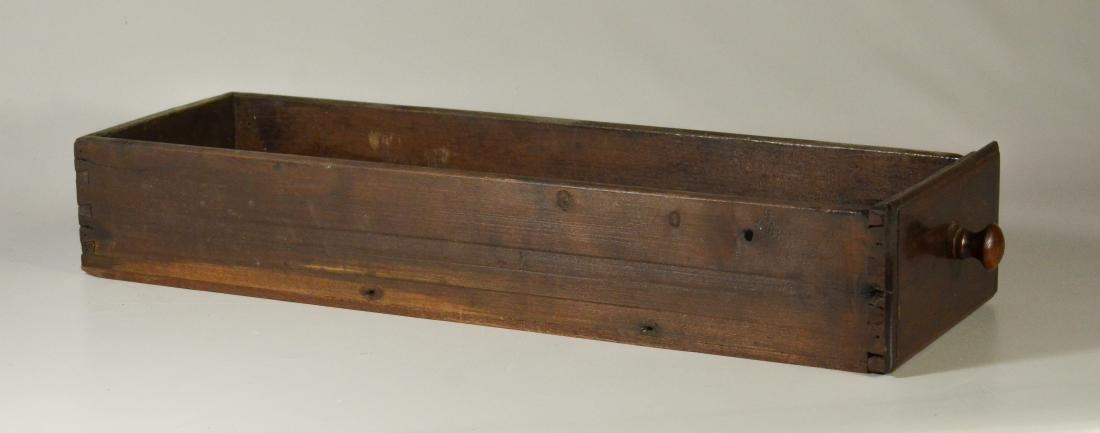 Walnut stretcher base 3 drawer tavern table, 1760-80 - 3