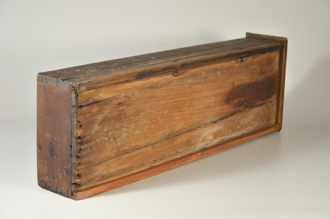 Walnut stretcher base 3 drawer tavern table, 1760-80 - 5
