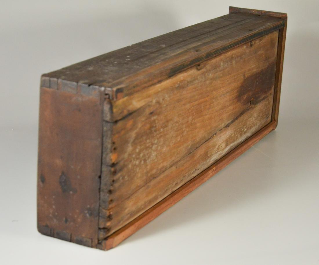 Walnut stretcher base 3 drawer tavern table, 1760-80 - 6
