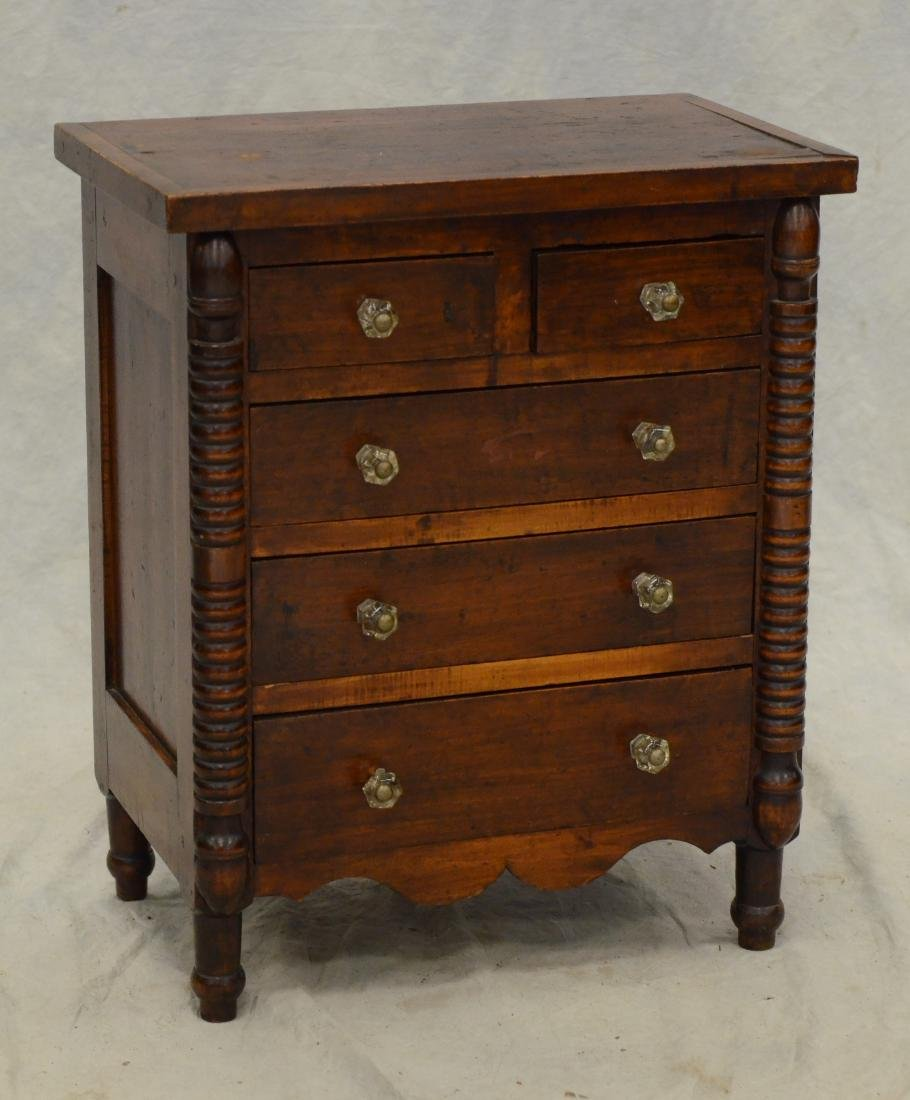 Transitional Federal  miniature chest of drawers