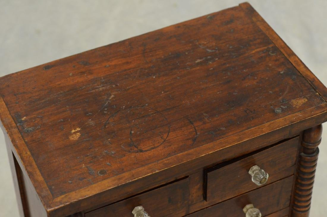 Transitional Federal  miniature chest of drawers - 2