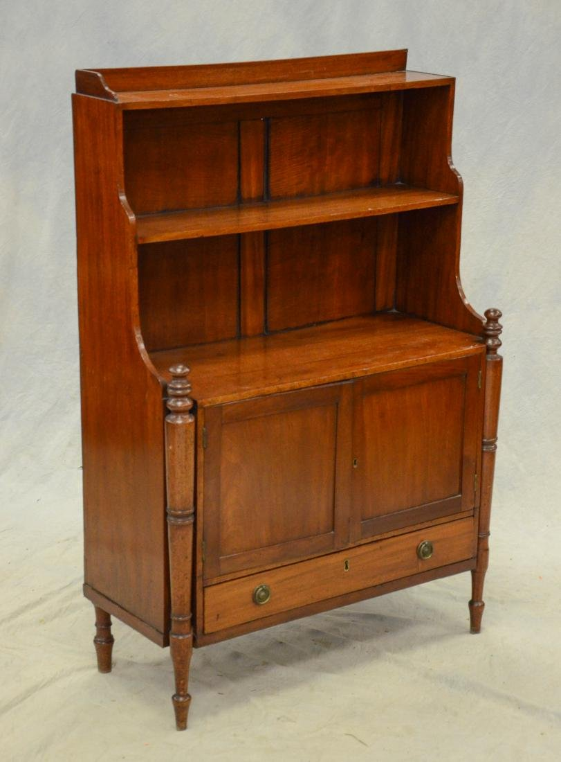 Mahogany Regency miniature stepback cupboard, c 1820